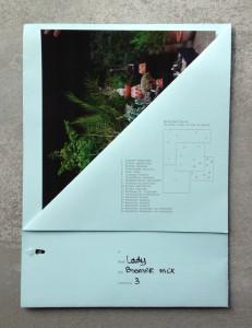 Envelop met foto en informatie over de gepresenteerde succulenten, 2015, KCCM