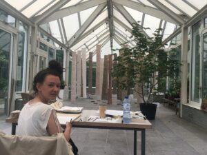 Artist-in-residence Annelinde de Jong